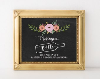 Best message in a bottle wedding and event guest message set