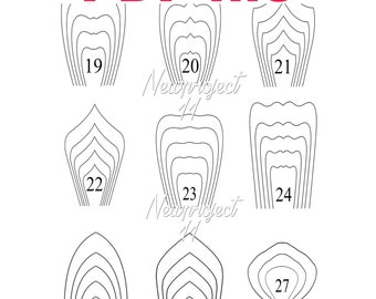 18 PDF Paper Flower Template . Giant Paper Flower Template.DIY Paper Flower Template