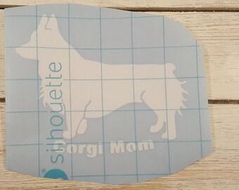 Corgi Mom Vinyl Decal, Pembroke Welsh Corgi, Car window Decal