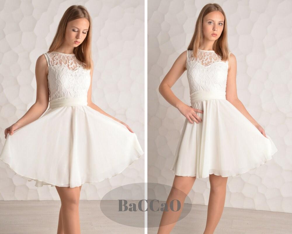 Großzügig Prom Kleider Weiße Kurze Ideen - Hochzeit Kleid Stile ...
