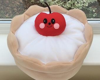 Kawaii cushion, plushie cushion, round cushion, childrens plushie, kids plushie, kids cushion, cake cushion, decorative cushion