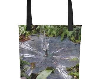 Botanical Garden Bird Bath Tote bag