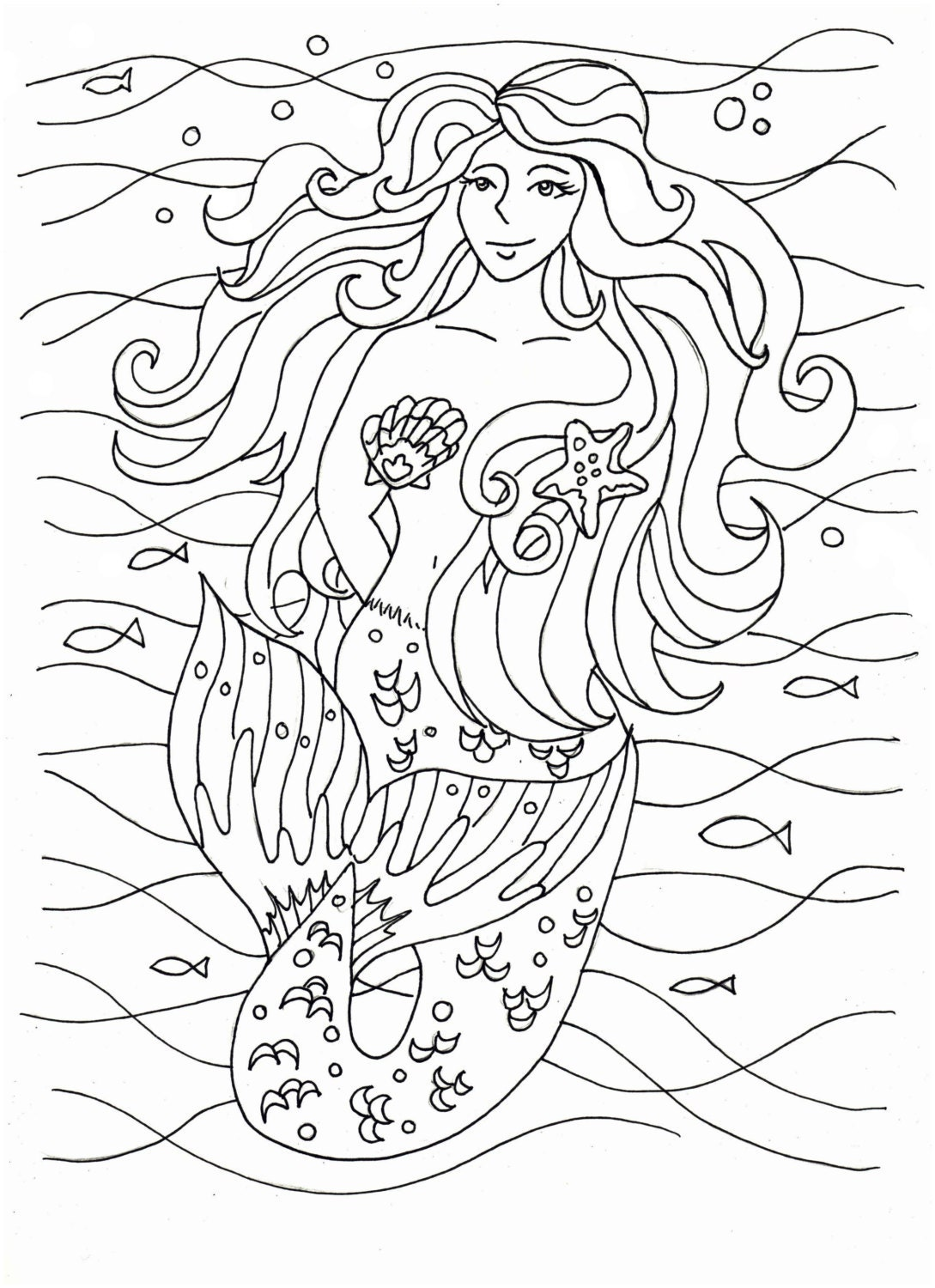 It's just an image of Selective Free Printable Mermaid Coloring Pages for Adults
