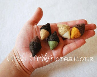 Plush Felt Acorns- Pack of 5