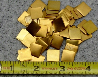 "1/2"" Brass Square 24 Gauge  Pack of 72"