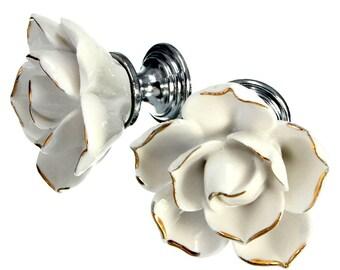 ceramic knob/ drawer knob/ cabinet knob/ dresser knob/ unique knob/ white knobs/ decorative knobs /vintage knobs, antique knobs, hardware