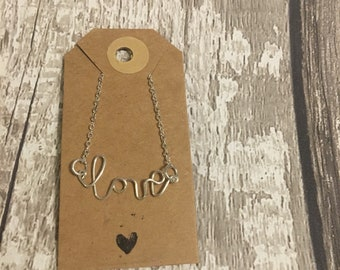 Wire Name Chain Necklace