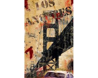 Los Angeles, Colorful Wall Art, Digital Art, Printable Poster, Digital Download, Printable Photography, Printable Art,  Photographic Collage