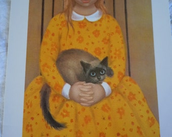 "Vtg ""BIG EYES""  Lot of #20 Cards Margaret Keane  Blank Cards -  ""The Bored Guest""    New Old Stock -5"" x 7"""