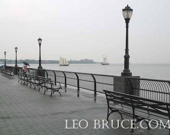 Print, Urban Landscape, Battery Park Lovers, Tribeca New York City USA, July 2011