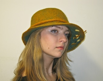 "Hand made felted hat - ""Autumn"""