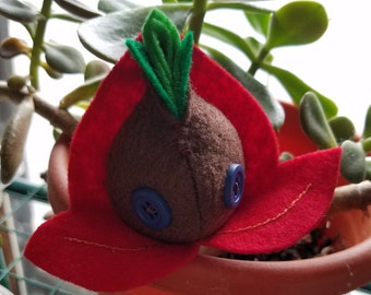 Small Red Seedy Guy (Embroidered)