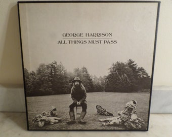 Vintage 1970 Apple Records LP Set George Harrison All Things Must Pass Near Mint Condition Box Set wPoster 15932