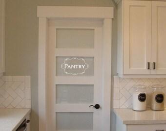 Pantry vinyl lettering words for Pantry door stickers