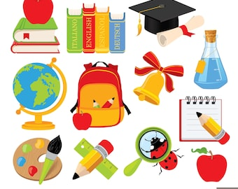 Back To School Digital Clipart