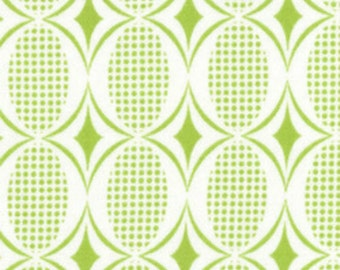 "Moda - Half Moon Modern Ovals in Lime 32354-19 17"" Remnant"