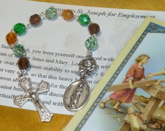 St. Joseph The Worker Chaplet~Rosary Chaplet,Employment, Jobs, work, unemployment, jobhunting, new job, St of Workers,Labor, Find a job,