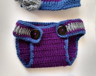 Baby Hat, Boots, and Diaper cover set