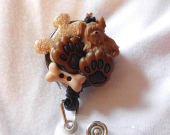 Puppy Paws badge reel