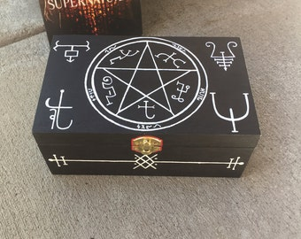 Supernatural Symbols Curse Box - Sam and Dean Winchester