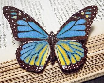 Wooden Butterfly Statement Brooch