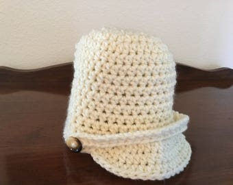 Newsboy Hat Crochet with Buttons