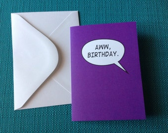 Hawkeye Birthday Card Marvel Comic Book Inspired Clint Barton Kate Bishop Comic Book Birthday Card Nerd Geek Greeting Card Avengers Birthday
