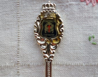 Vintage Cartagena souvenir spoon  demitasse spoon collectible