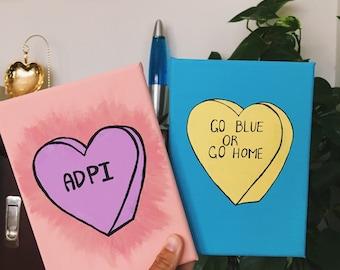 Custom Conversation Heart Canvas