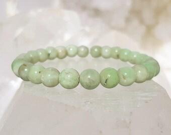 ॐ Emerald Bracelet 6mm ॐ Mala Bracelet - Yoga Bracelet - Meditation - Reiki Bracelet 6 mm