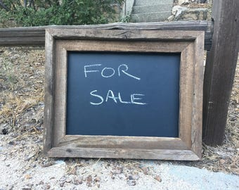 barn wood chalk board