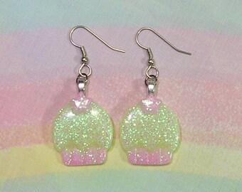 Fairy Kei Earrings, Pop Kei Earrings, Decora Earrings, Cupcake Earrings, Party Kei Earrings, Glitter Earrings, Kawaii Earrings