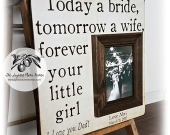Today a Bride, Father of the Bride Gift, Father of the Bride Frame, Daughter to Father Gift, 16x16 The Sugared Plums Frames