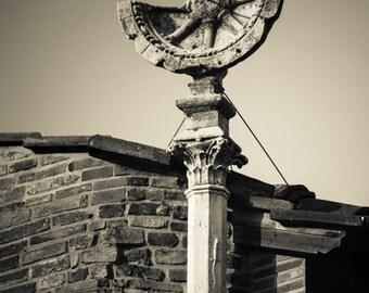 Florence Italy - Fine Art Photograph  - Italian Sundial