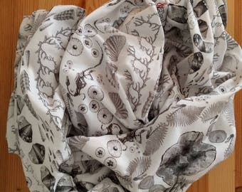 Fossil Scarf - Fossils of New Mexico- Science Scarf