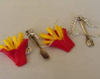 Earrings - French fries