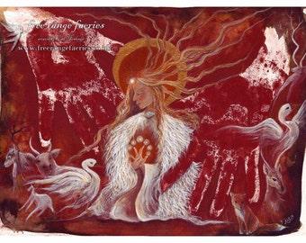 Brighid's Fire A4 Art Print