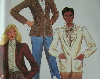 Misses Lined Jacket Size 8 Bust 31 1/2 Mccalls Vintage Pattern 7713 Dated 1981 UNCUT MINT Pattern
