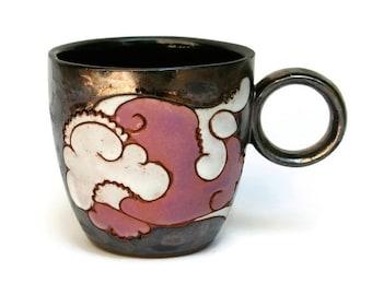 Teacup, Pottery Teacup, Ceramic Teacup, Clay Teacup, Stoneware Teacup, Glazed Teacup, Teacup Handmade, Teacup Hand Painted, Pottery Cup, Mug