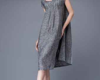 Linen tunic, Linen dress, plus size dress, summer dress, woman dress, tunic, tunic dress, plus size clothing, midi dress, plus size C886