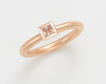 Ring Sapphire,18kt rose gold, stack ring, wedding ring, gift women, engagement ring, statement ring, stack ring, wedding band set, gold ring