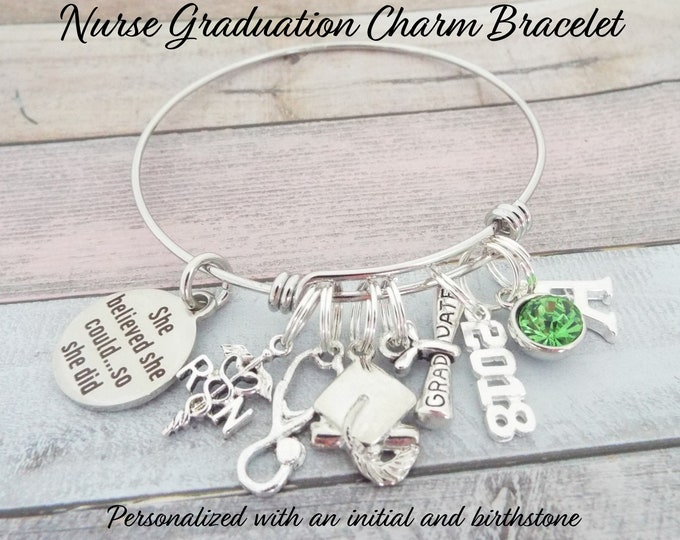 Nurse Graduation Gift, RN Graduation, She Believed She Could Gift, Custom Jewelry, Personalized Gift, Gift for Nurse Graduation, Girl Gift