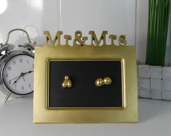Mr & Mrs Ass with vagina + penis JanoschArt wedding gift/art/Funny/crazy Unique