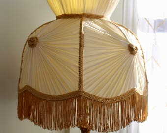 MidCentury Hollywood Regency Victorian Style Large Lampshade