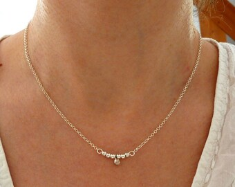 Fine necklace with pearls and 925 sterling silver charm
