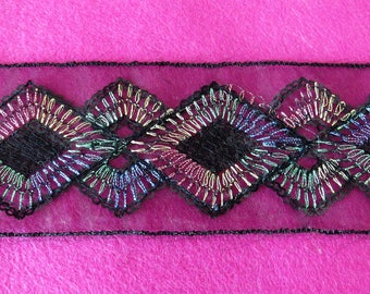 Organza sequin embroidered lace 5 yards