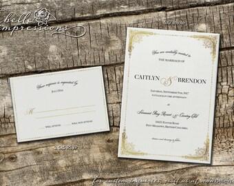 Personalized Digital Invitation Set (.pdf file) - Caitlyn & Brendon