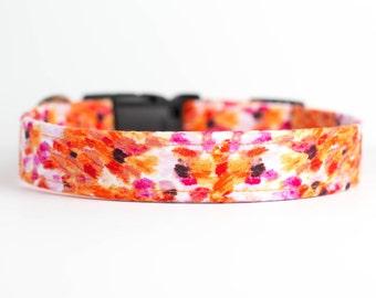 Spring/Summer Dog Collar - Watercolor Sunset