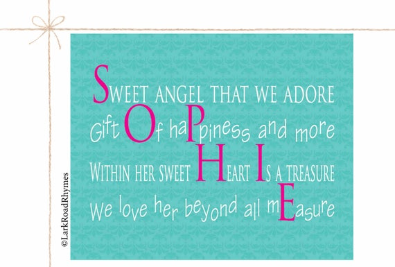 Baby gifts newborn personalized name gifts girl names unique like this item negle