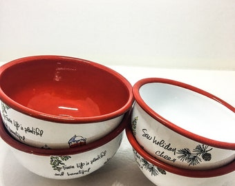 Painted Metal Bowls